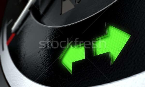 ハザード ダッシュボード 光 3dのレンダリング 極端な クローズアップ ストックフォト © albund