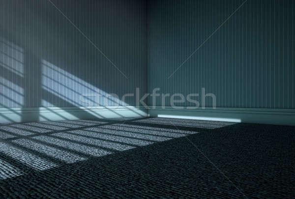 Moonlight Into Empty Room Stock photo © albund