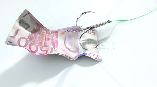 Euro Banknote Baited Hook Stock photo © albund