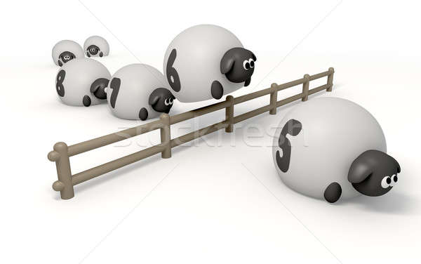 Counnting Sheep Isolated Stock photo © albund