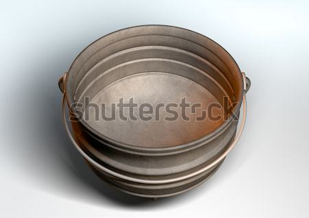 South African Potjie Pot Inside Empty Stock photo © albund