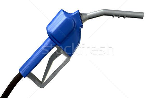 Benzin fogantyú fúvóka oldal rendszeres kék Stock fotó © albund
