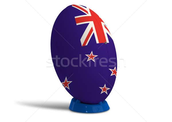 новых мяч для регби цветами флаг Сток-фото © albund