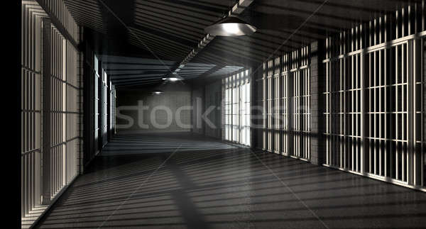 Jail Corridor And Cells Stock photo © albund
