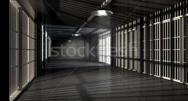 тюрьму коридор тюрьмы ночь различный Сток-фото © albund