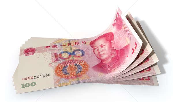 Yuan Bank Notes Spread Stock photo © albund