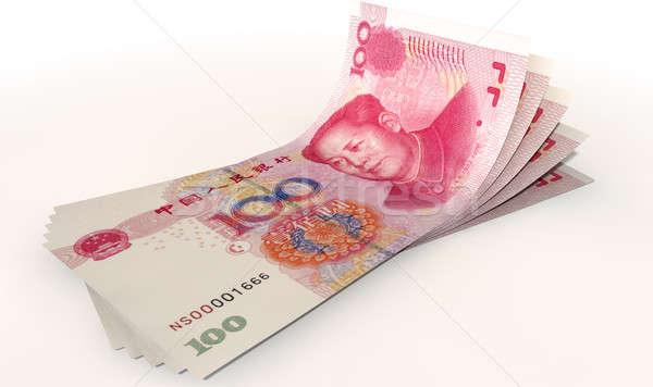 Stock photo: Yuan Bank Notes Spread