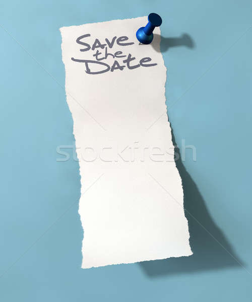 Pinned Paper Save The Date Stock photo © albund