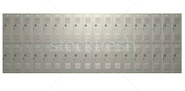 School Lockers Front Stock photo © albund