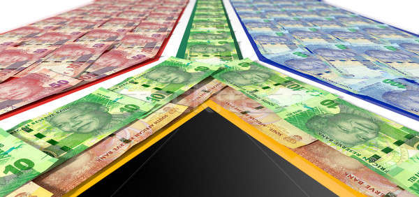South African Rand Notes Flag  Stock photo © albund