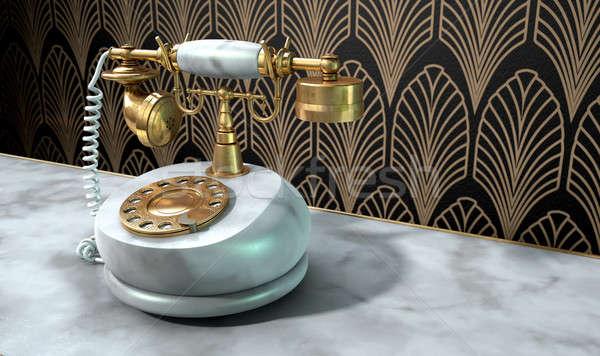 Marble Telephone And Art Deco Scene Stock photo © albund