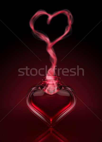 Miłości serca czerwony otwarte Zdjęcia stock © albund