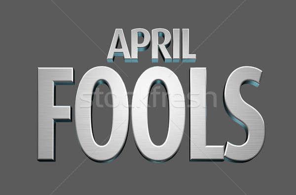 April Fools Text Stock photo © albund