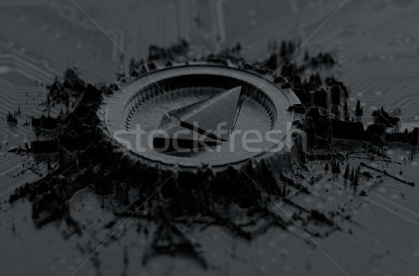 Cryptocurrency Mine On Circuit Board Stock photo © albund