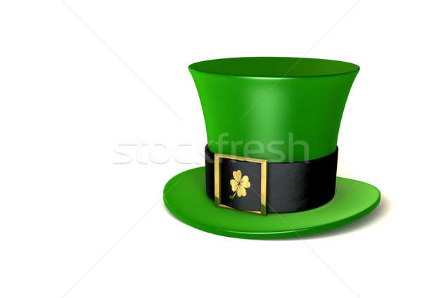 Leprechaun Shamrock Hat Stock photo © albund