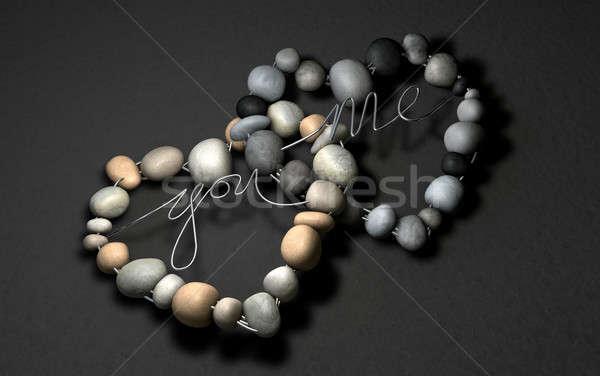 Love Rocks Soulmates Stock photo © albund