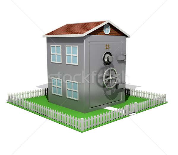 郊外の 安全 家 ことわざ 住宅 安全 ストックフォト © albund
