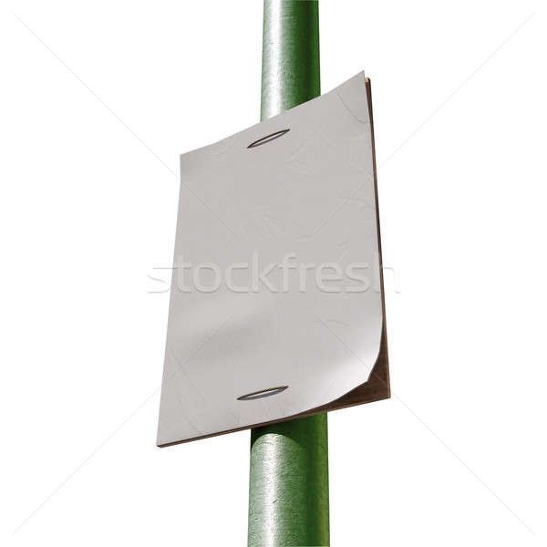 Street Pole Blank Newspaper Headline Page Stock photo © albund