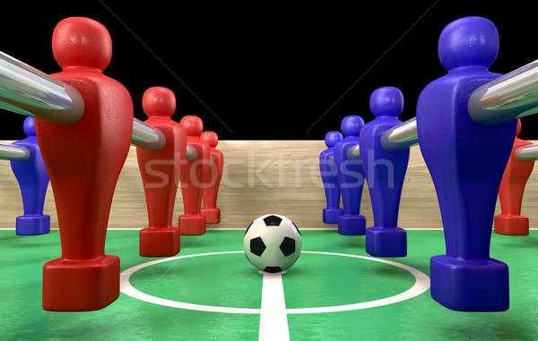 Foosball Table Closeup Stock photo © albund