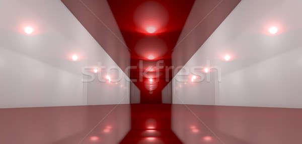 Glossy Red Room Perspective  Stock photo © albund