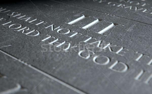 The Third Commandment Stock photo © albund