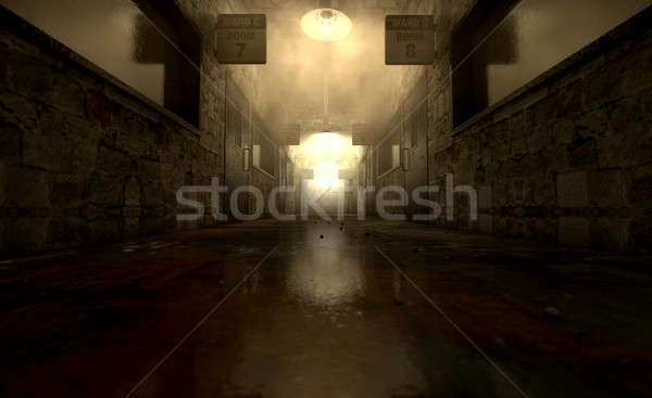 Mental Asylum Haunted Stock photo © albund