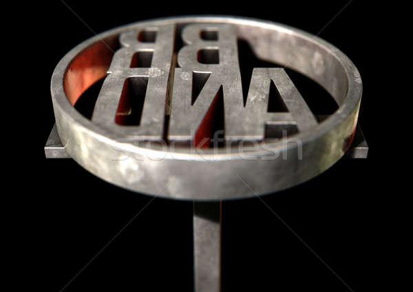 Branding Iron Brand Stock photo © albund