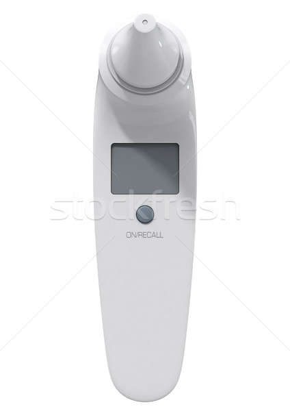 Сток-фото: ребенка · уха · термометра · 3d · визуализации