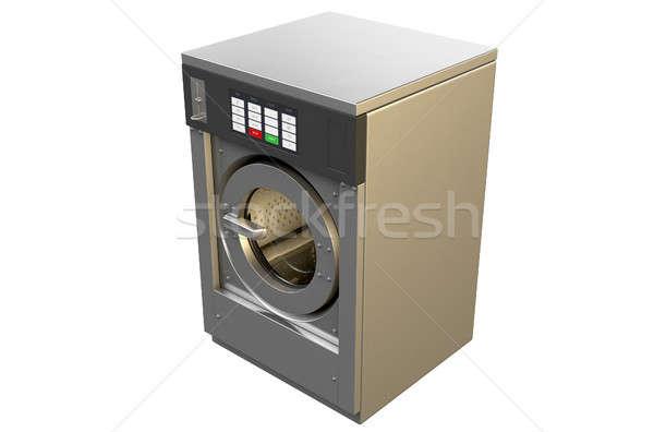Ipari mosógép 3d render izolált fehér stúdió Stock fotó © albund