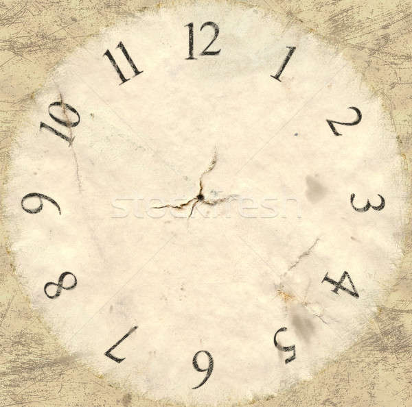 Antique Watch Face Backing Stock photo © albund