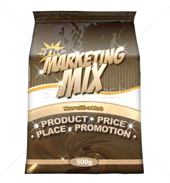 Marketing Mix - The Four P's Stock photo © albund