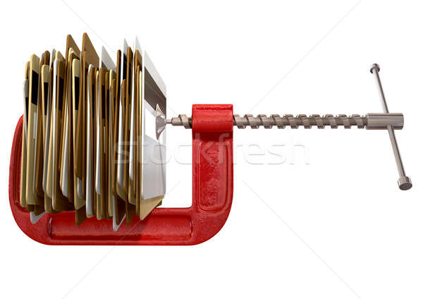 Clamped Credit Card Crunch Stock photo © albund