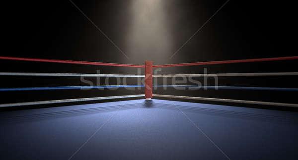 Boxing Corner Spotlit Dark Stock photo © albund