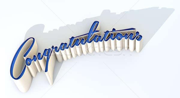 Félicitations texte orthographe sur mot longtemps Photo stock © albund