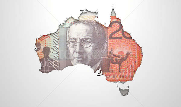 Recessed Country Map Australia Stock photo © albund