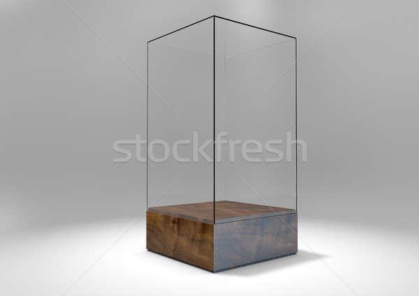 Glass Display Case Stock photo © albund