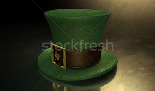 Green Leprechaun Shamrock Hat Stock photo © albund