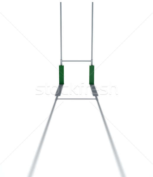 Stock photo: Rugby Posts Isolated