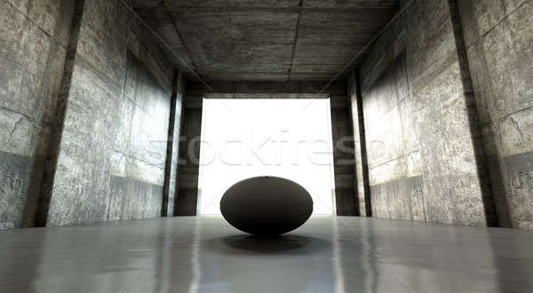 Ballon de rugby sport stade tunnel Rechercher Photo stock © albund
