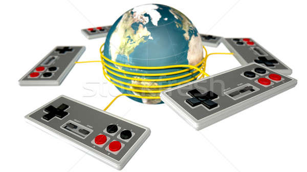 Vintage Gaming Competition Stock photo © albund