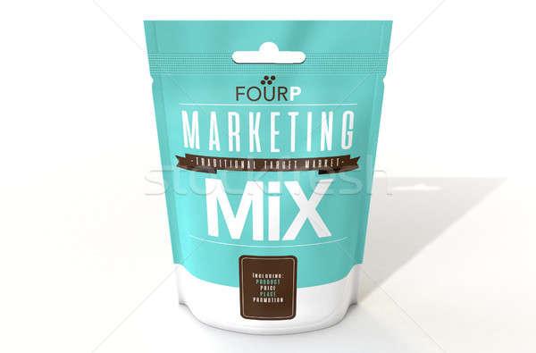 Marketing Mix 4 P's Stock photo © albund