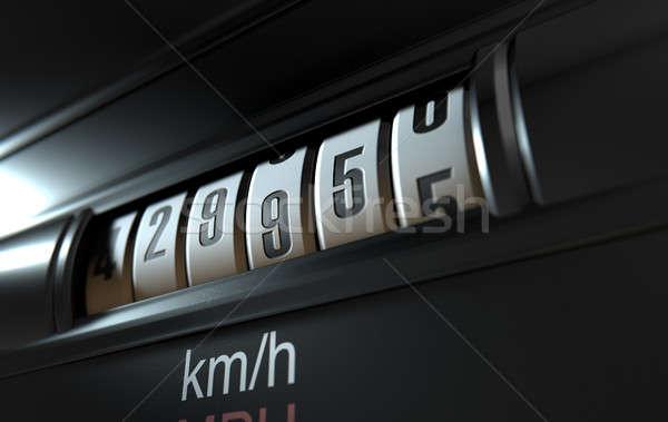 автомобилей одометр высокий 3d визуализации Сток-фото © albund