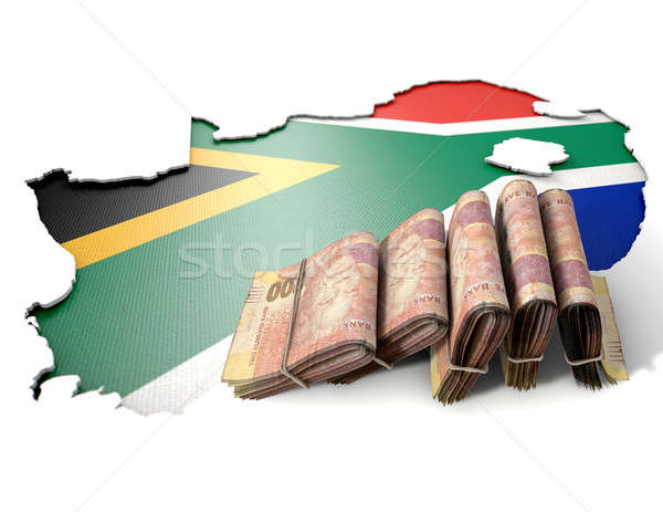 South African Map And Folded Notes Stock photo © albund