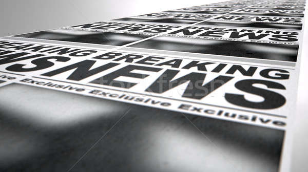 Newspaper Press Run Stock photo © albund