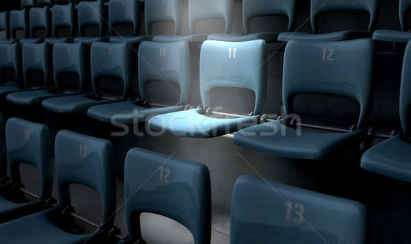 Highlighted Stadium Seat Stock photo © albund