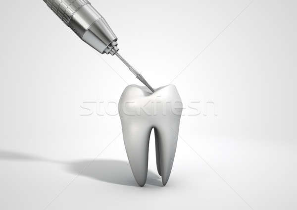 Dentists Drill And Tooth Stock photo © albund