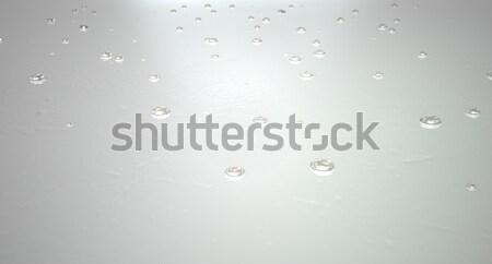 Water Droplets On White Stock photo © albund