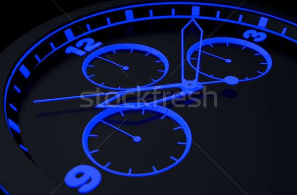 Neon Watch Face Stock photo © albund