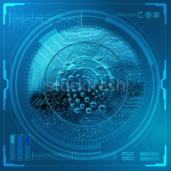 Cryptocurrency Iota Futuristic Stock photo © albund