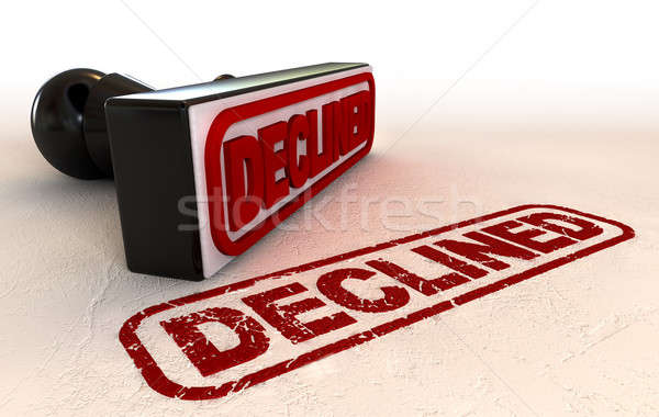 Declined Rubber Stamp Stock photo © albund